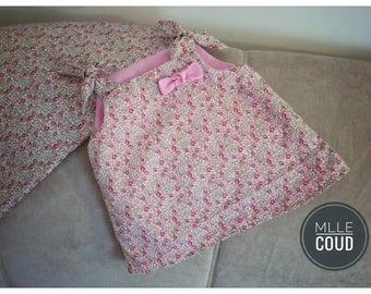 baby dress line liberty from 3 months to 18 months