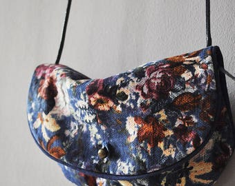 floral leather shoulder bag purse
