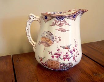 19th C Ironstone Pitcher