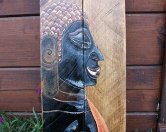 Buddha (Cambodia) painted on wood