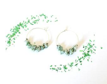 LEYA hoop earrings silver Tree Agate gemstones
