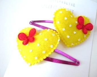 Heart Hair clips barrettes