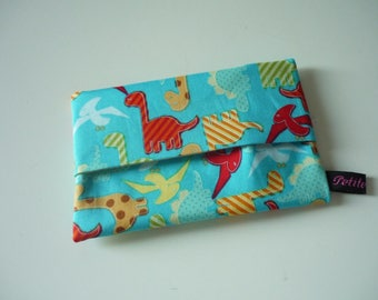 Dinosaurs blue fabric Pouch for tissues