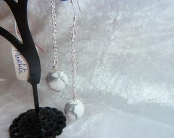 Genuine HOWLITE GEMSTONE earrings