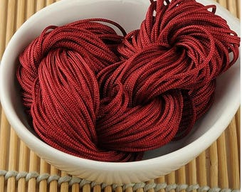 For about 30 meters handicrafts Burgundy macrame thread