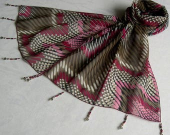 Scarf & pearls REF. * 014 - zig - zag pattern
