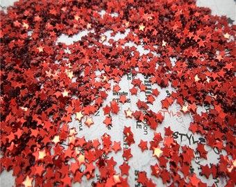 glitter red lot star 2000