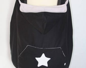 Universal carrying cape cover Black White Star