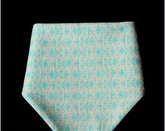 Turquoise scarf and sponge honeycomb print bandana bib