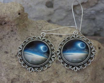 """Silver earrings """"collection eclipse"""""""