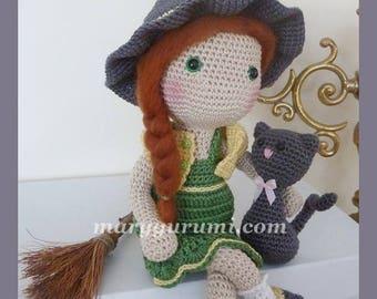 Crochet, witch, Amigurumi doll