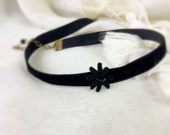 Choker 1 cm black velvet