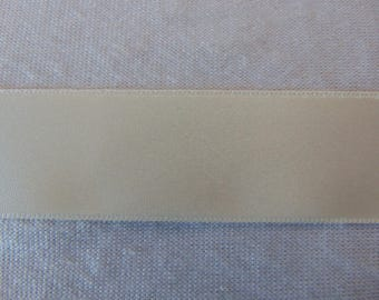 Satin ribbon, off-white, width 25 mm (S-245)