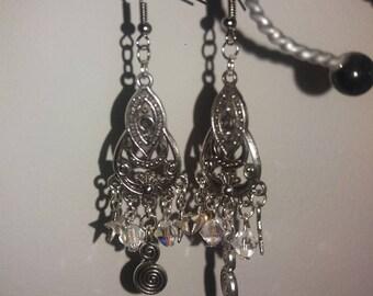 Ethnic inspired charm earrings
