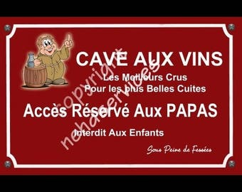 The wine cellar street sign