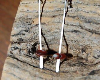 "Earrings ""Pearl rain"", Jasper"