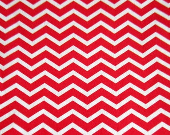 100% cotton fabric, Chevron, red, white, sold by 10 cm by 150 cm