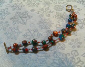 lovely original multicolor double strand bracelet