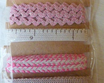 """5 matching ribbons theme """"couture"""" 1 yard in length each"""