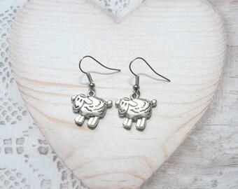 Pair sheep, animal earrings jewelry