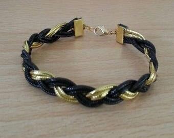 Black and gold braided fashion bracelet
