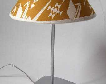 beautiful Japanese fabrics and metal lamp