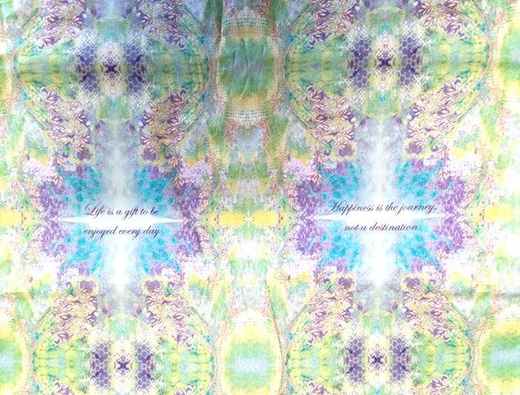Fabric pattern tile cotton - coupon 50 x 55 cm