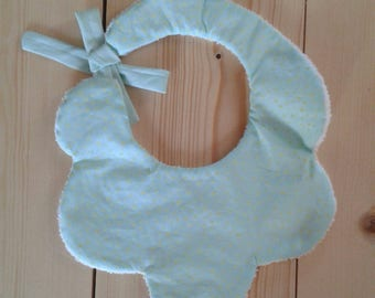 A head in clouds bib
