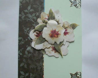 63 - floral 3D greeting card