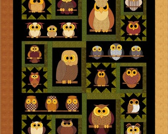 Whoo Knows? applique pattern