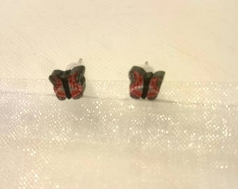Child earrings black butterflies