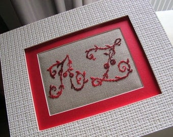 Table embroidery letters A-Z cross stitch