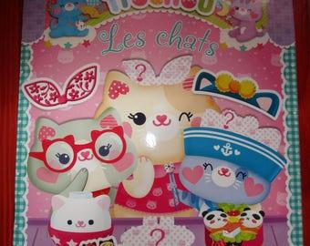 nine cats toys sticker book