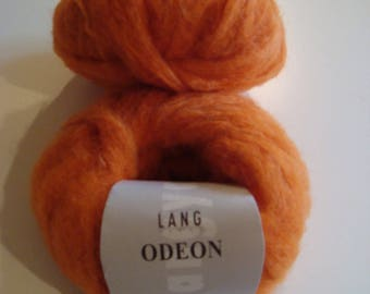 50 g skein wool Mohair Odeon LANG Yarns - needles 5.5-6 - color Orange