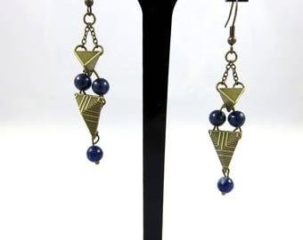 Earrings, Lapis Lazuli New Spell