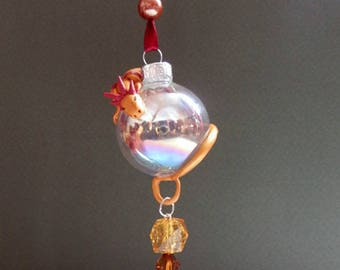 Golden dragon Christmas ornament