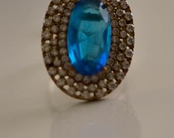 Handmade Oriental Turkish Ottoman Style 925 Sterling Silver Ring Sz9