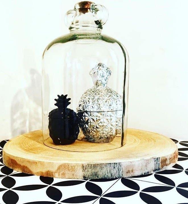 Grande cloche verre d corative bouchon en li ge sur grande for Cloche verre decorative