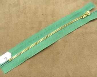 metal closure - 18 cm - Green
