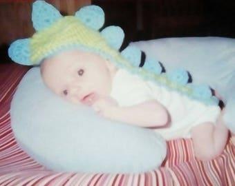 Newborn Crocheted Dinosaur Hat