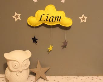 Cloud personalized with your baby's name