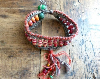 "Bracelet ""sweetness and light"" Bohemian, gypsy"