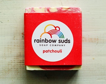 Red Patchouli Soap Bar - 25% of proceeds to charity