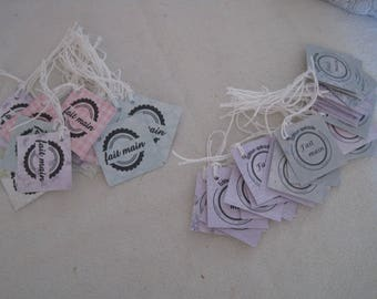 Tags, handmade, Special Edition, for your creations, set 5