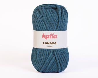 Ball of yarn knitting CANADA collar. 26 - Blue-green - Katia - 100% Acrylic