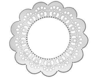 Set of 20 prints filigree steel 30mm SC65995 Silver Flower charm