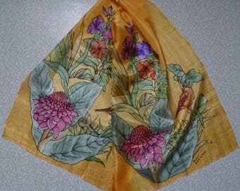 Hand made silk scarf