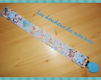 Ribbon pacifier clip cute baby animals