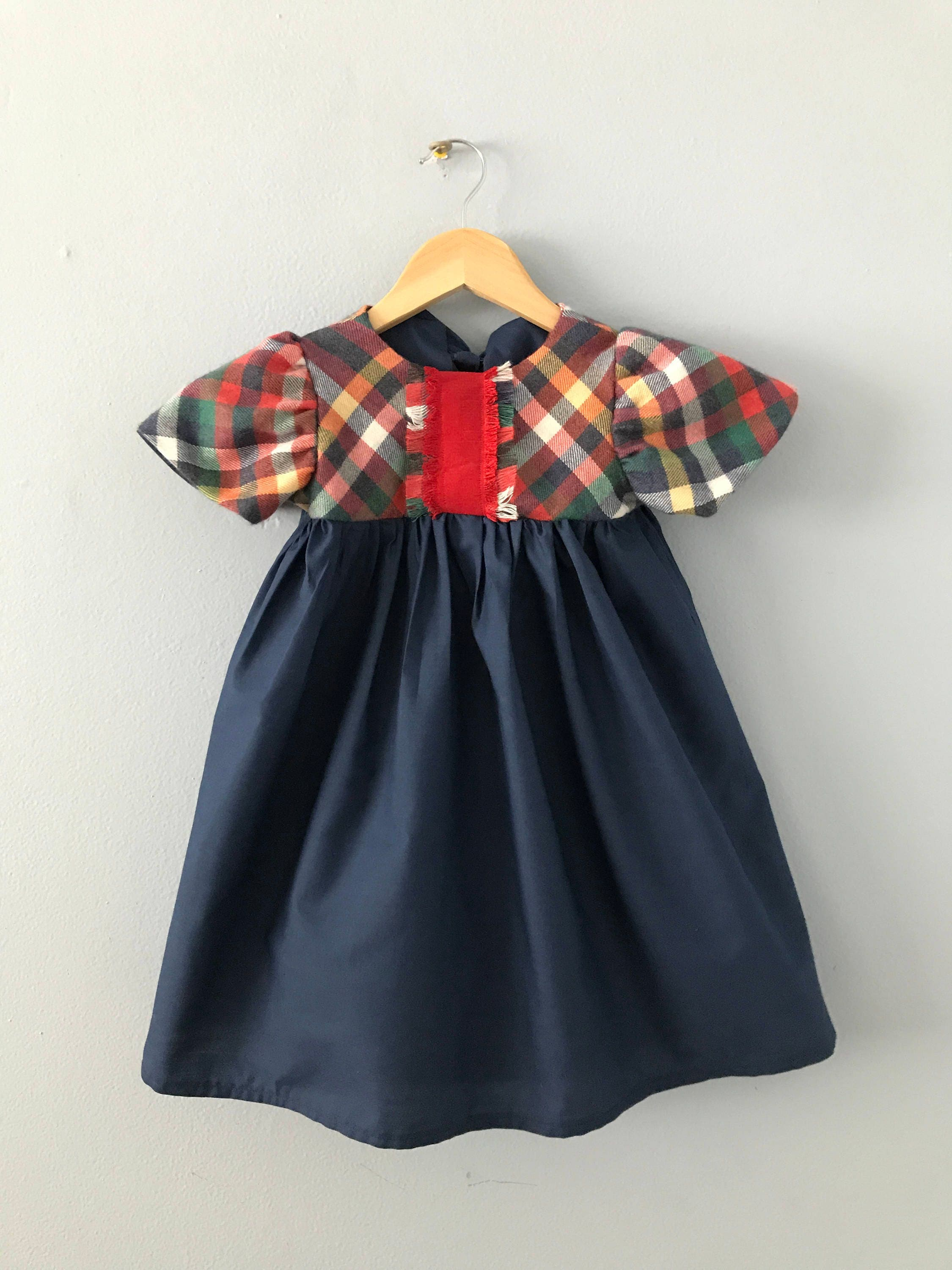 inyoite girls dress holiday dress christmas dress toddler dress girls plaid dress