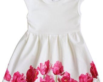 Morning Glory Pleated Dress